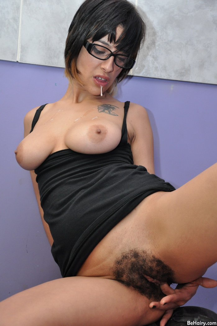 Hairy mature with dildo-3968
