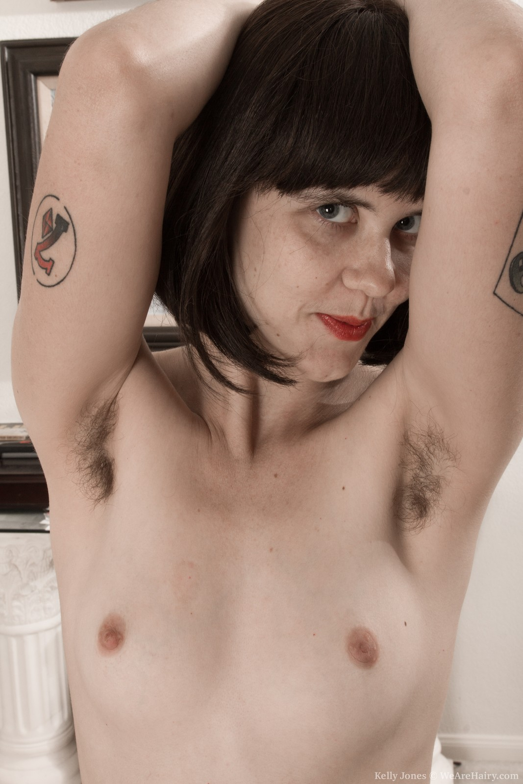 Amateur With Hairy Armpits -- Hairyfemalespicscom-3542
