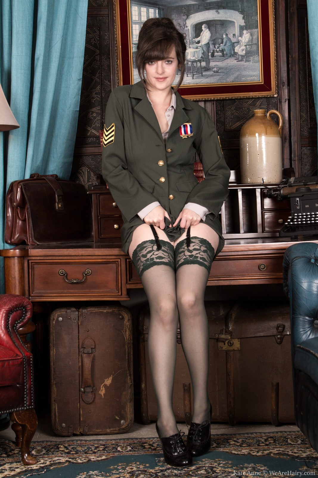 Army Babe With A Hairy Muff -- Hairyfemalespicscom-6361