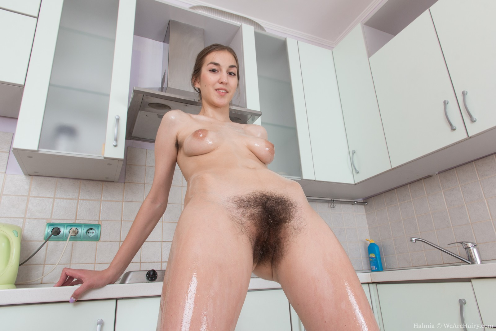 Hairy Armpits And A Bushy Cunt -- Hairyfemalespicscom-1990